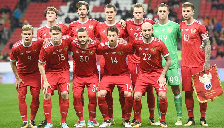Russian national football team leaves for Austria